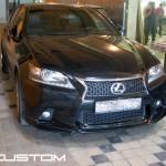 Установка аэродинамического обвеса на Lexus GS 350